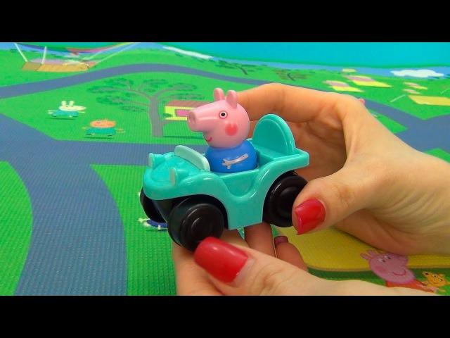 Peppa Pig en français. Nouveau jouet Mega Tapis Peppa Pig et petit frère George. Peppa Pig Buggies