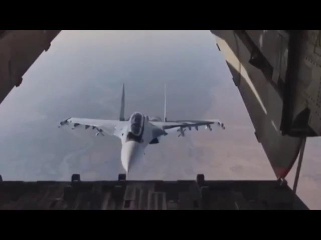 Новости РОССИИ. Сирия. Красавец Су-30СМ заглянул внутрь транспортника Ил-76. » Freewka.com - Смотреть онлайн в хорощем качестве