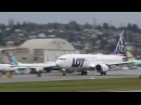 LOT Boeing 737 MAX 8 SP LVA First takeoff Gear UP and down on airbone