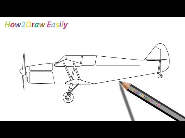 How to Draw a Biplane Easily Watch Video - www.youtube.com/watch?v=X0TUgEsKXAw