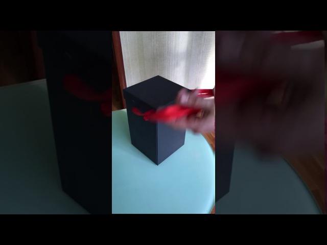 Роза в Колбе в подарочной коробке