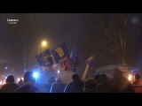 В Славянске День Соборности отметили факельным шествием