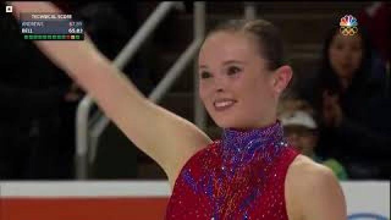 Mariah BELL Free Skate US Figure Skating Championships 2018