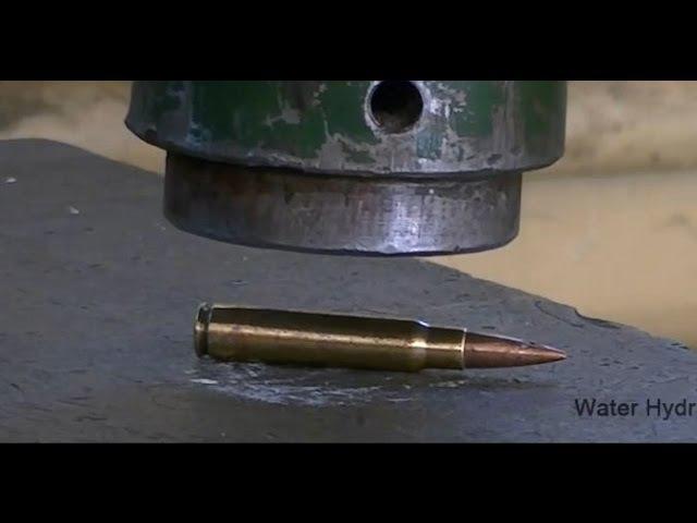 Что если винтовочный патрон раздавить гидравлическим прессом 500 тонн?