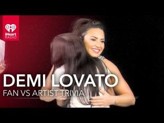 Demi Lovato Duels Fan in Demi Trivia | Fan Vs. Artist