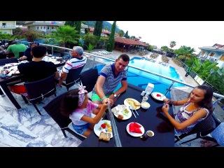 Пляж Кидрак . Отель Дориан. Олюдениз. Фетхие. Турция/ Kidrak beach. Oludeniz. Fethiye. Turkey