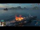 World of Warships. бой без каментариев. ПОБЕДА!
