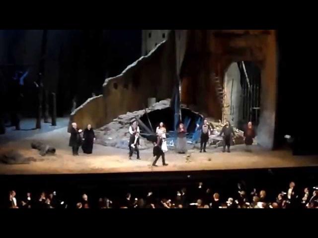 Curtain Call Il Trovatore. MET. 10.03.15