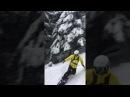 Light Freeride line in Kouty ski resort Czech Republic