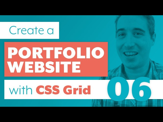 How to create a Portfolio Website with CSS Grid Sass | Part 6: Contact and Footer