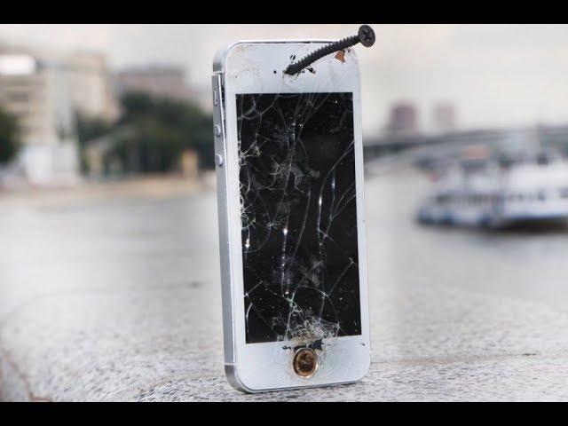 Растреляли айфон 5S из пневматического пистолета подурачились=