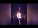 В Южно-Сахалинске елка сгорела во время праздника