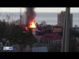 Пожар в Адлерском районе Сочи. Горит жилой дом. 18,12,17