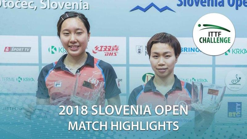 2018 Slovenia Open Highlights I Miyuu KiharaMiyu Nagasaki vs NG Wing NamSoo Wai Yam Minnie (Final)