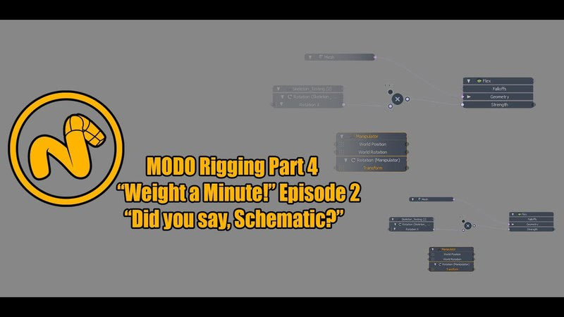 Modo 11.2v3 Rigging Part 4 Weight a minute episode 2 Did you say, schematic