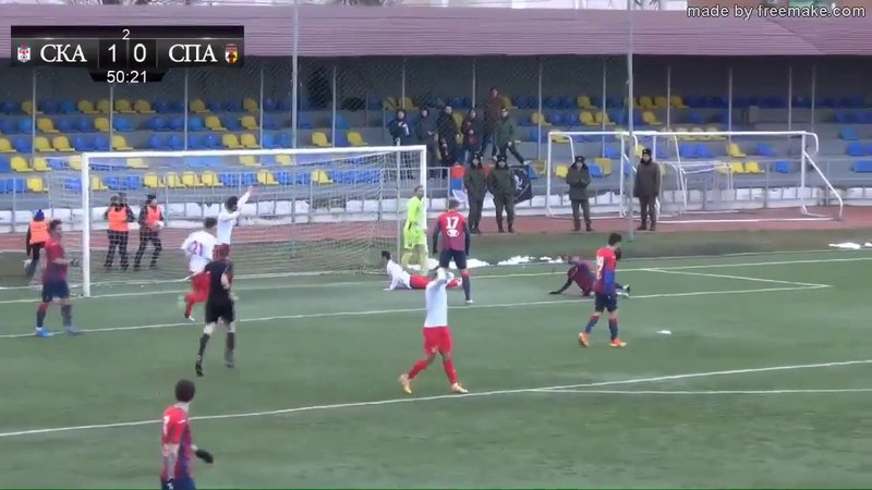 ПФЛ 2017/18. 23 тур. СКА – Спартак-Вл. 1-0