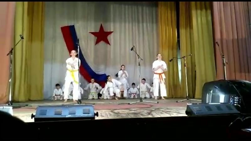Показательные выступления по каратэ Кекусин-Кан. Мои ученики