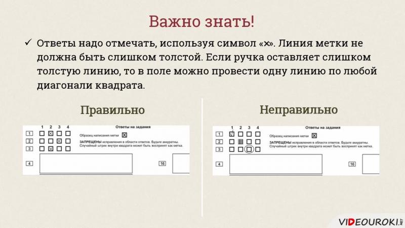 Инструкция по заполнению бланков ответов ГИА