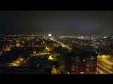 Вот так выглядело Тюменское небо в Новогоднюю ночь с 21-го этажа :)))