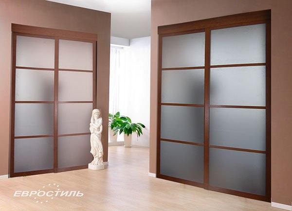 Раздвижные двери в кухню фото