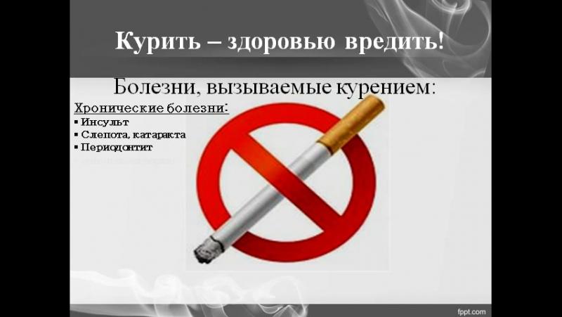 Табакокурение и его последствия