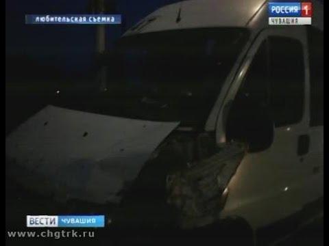 В Чебоксарах произошла авария с участием маршрутки