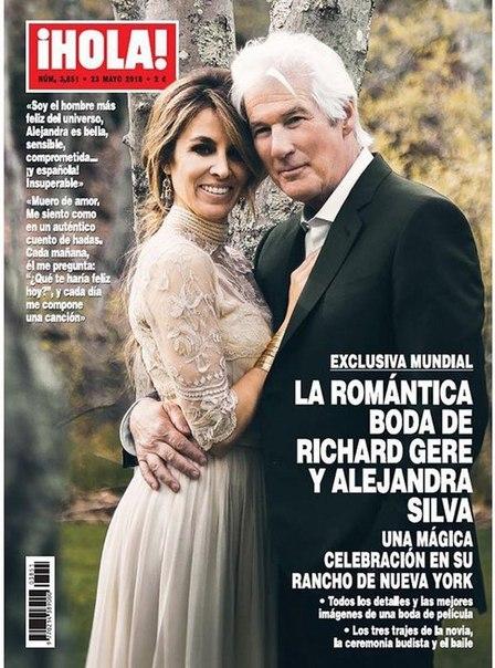 Первое свадебное фото 68-летнего Ричарда Гира и 35-летней журналистки
