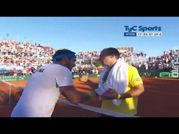 Ultimo punto Leo Mayer vs Joao Souza Copa Davis 2015 TyC Sports