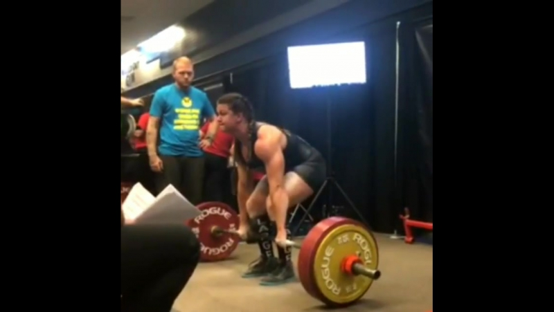 Сара Льюис, тяга 255 кг