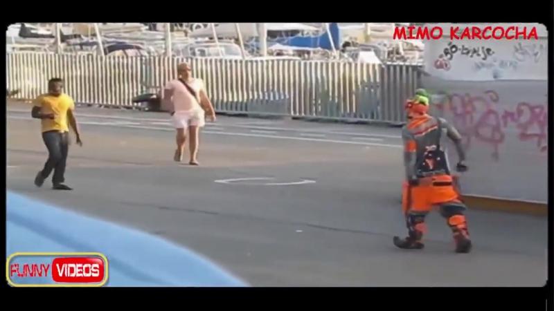 No pararas de REIR show Callejero Mimo Chileno Karcocha, funny street show