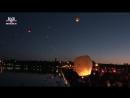 В небо над Донецком запустили тысячи фонариков в память о погибших детях Донбасса