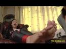 Lara Croft tickling invader