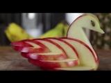 Come fare un cigno con una mela _ Как сделать лебедя из яблока