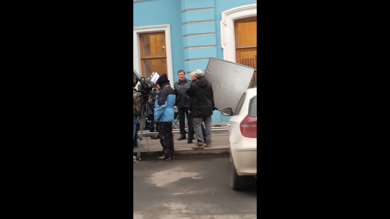 Съёмки фильма Бандитский Петербург .