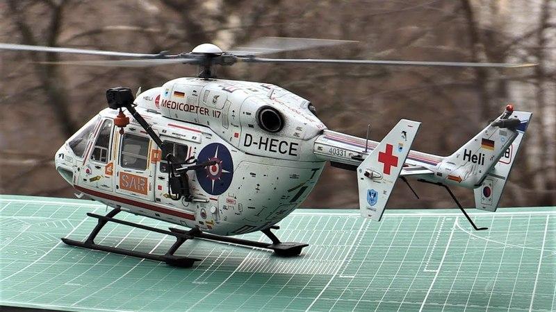 Модель вертолета Bk-117