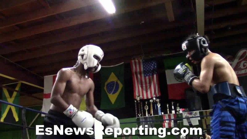 Ashton Sylve and Anthony Sharts sparring EsNews Boxing