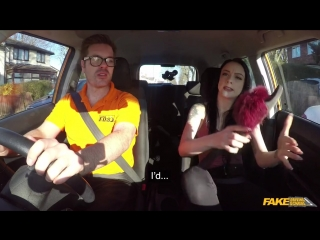 FakeDrivingSchoo Alessa Savage Hard sex and creampie on 2nd lesson New Porn 2018