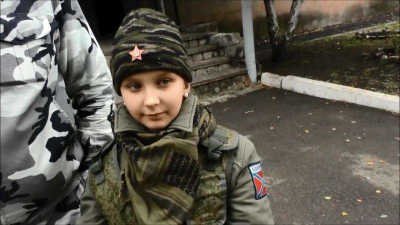 Богдана, 9-летняя девочка-боец из бригады Призрак верит- Новороссия будет!