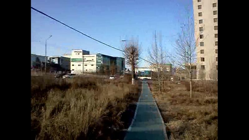в субботу рано утром на работу - прогулка в Улан-Баторе