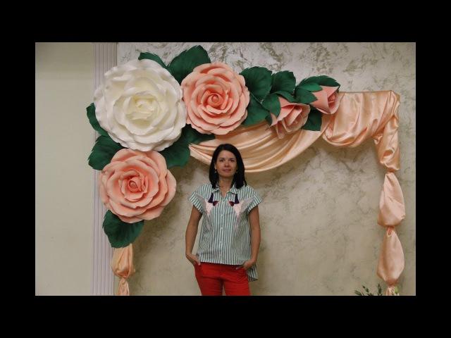 Мастер-класс Лист из фоамирана для гигантской розы