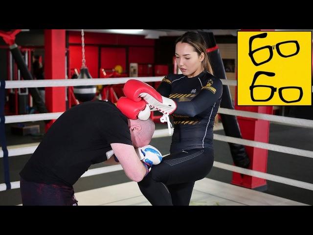 Самая красивая девушка боец Юстына Грачык и ее фишки комбинации коронки техника муай тай в ММА