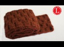 LOOM KNIT SCARF on Round Loom with Basket Weave Stitch Pattern Step by Step for Beginners | Loomahat