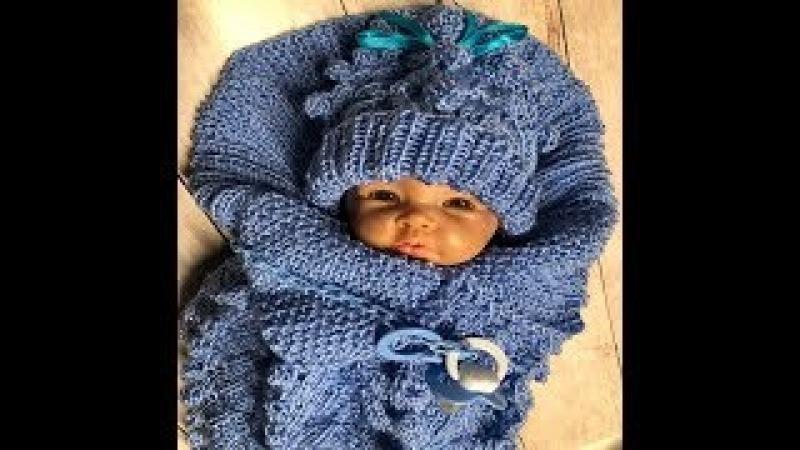 Вязание кокон для новорожденного 30