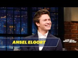 Ansel Elgort Shows Off His Edgar Wright Impression