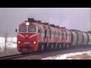 2М62к-0488 и 2М62к-0490 с грузовым поездом / 2M62K-0488 and 2M62K-0490 with a freight train