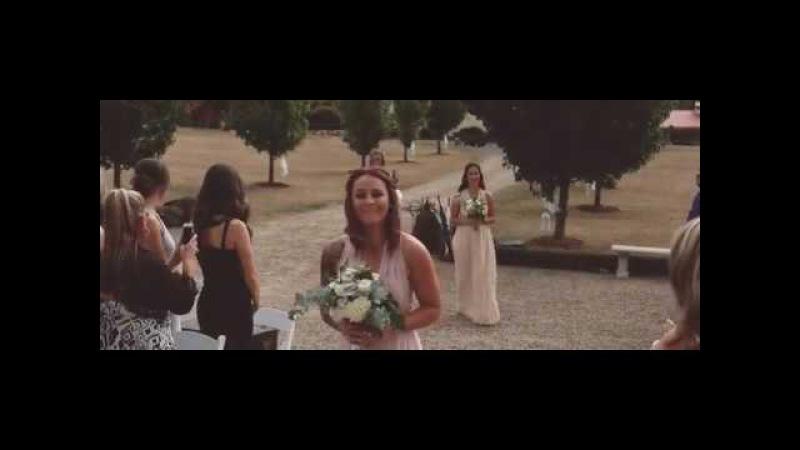Our Boho /Vintage Wedding! So emotional when groom cries