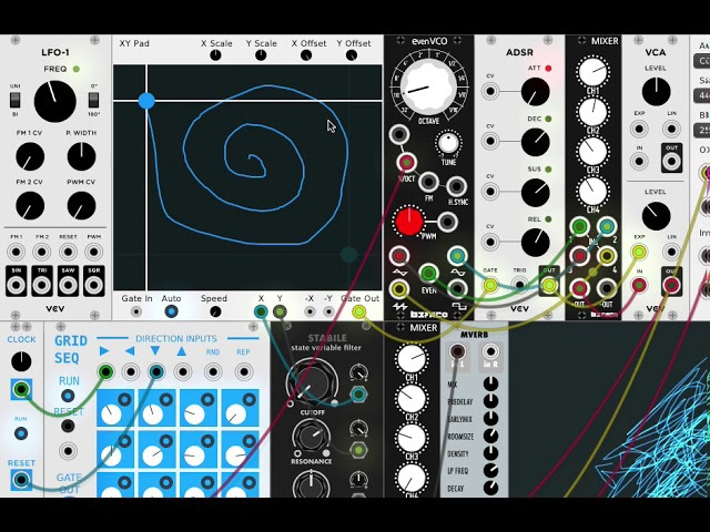 XY Pad Recording and Playback (VCV Rack Module)