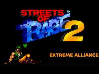 Streets of Rage 2: Extreme Alliance [Ash] hack (Sega Mega Drive/Genesis) 60fps