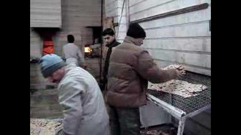 Sangak Bread Bakery in Tehran, December 2007