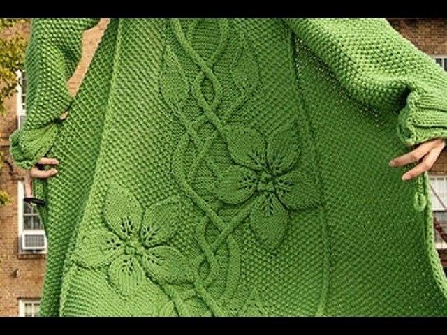 Вязаные пальто жакеты со схемами